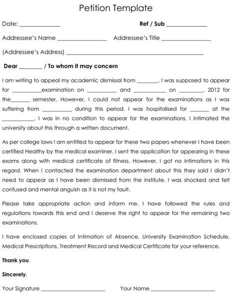 free petition templates petition template petition all form templates