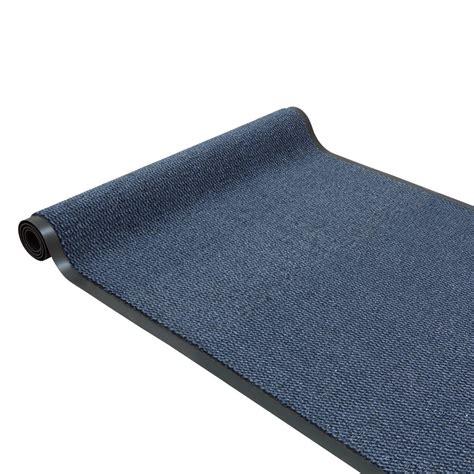 dirt barrier runner non slip mat blue basic clean 120cm