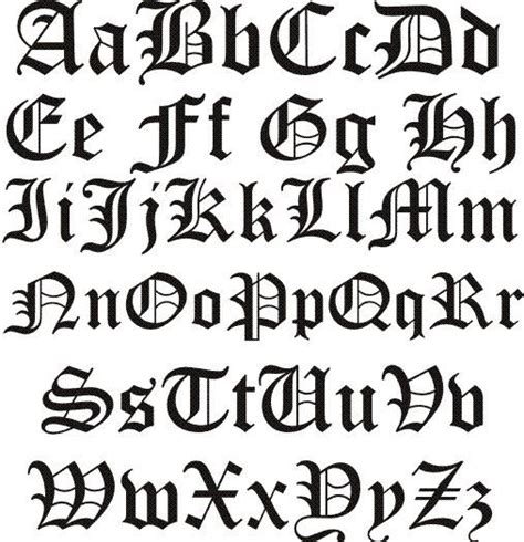 best 25 old english font style letters alphabet sle letter template