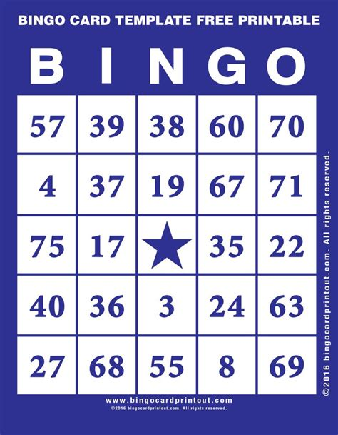 17 best ideas about bingo template on pinterest letter o