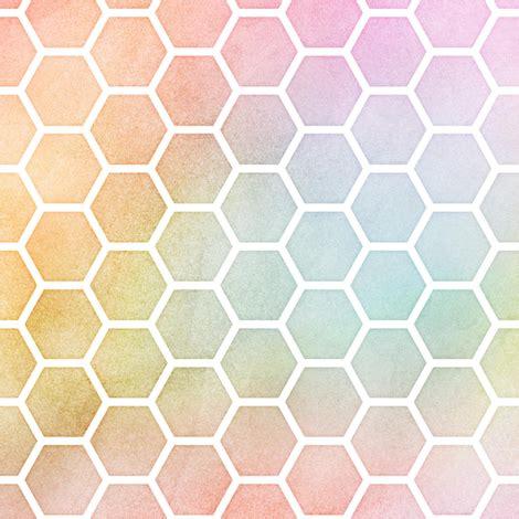pastel pattern material pastel rainbow watercolor honeycomb pattern fabric