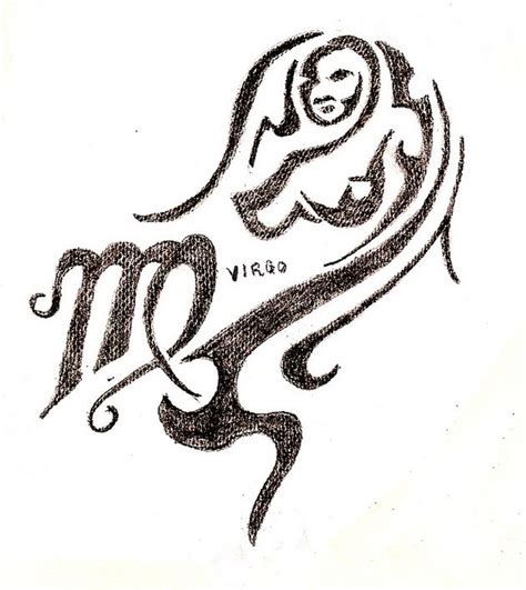virgo tribal tattoo tribal virgo zodiac design tattooshunt