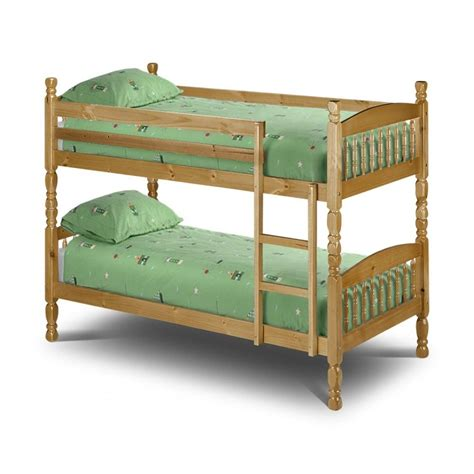 Lincoln 3ft Single Pine Wooden Bunk Bed Bunk Beds With Mattress Included