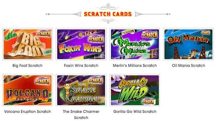 Instant Win Scratch Cards - online scratch cards instant win casino games