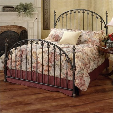wood and metal headboards hillsdale kirkwell metal poster bed in brushed bronze