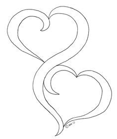 double heart coloring page double heart coloring pages