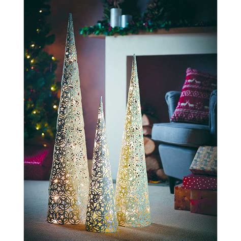 gardman prelit festive cone christmas tree 100cm on sale