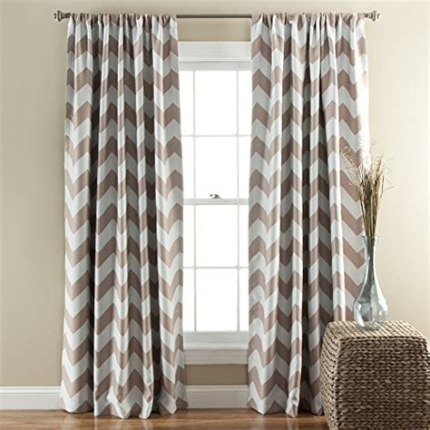 Taupe Chevron Curtains Lush Decor Chevron Blackout Window Curtain 84 By 52 Inch Taupe Set Of 2 Top Blackout Curtains