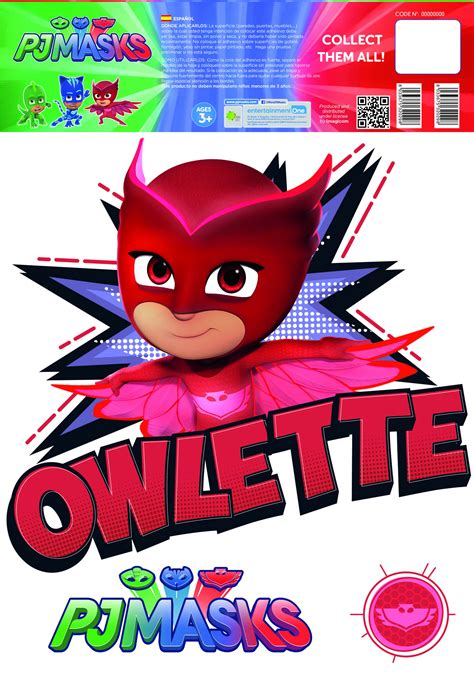 Repositionable Wall Stickers pj masks owlette wall stickers and decorations by