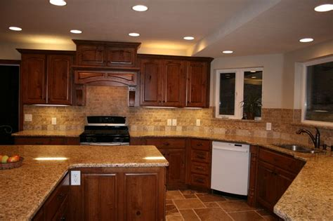 backsplash ideas for dark cherry cabinets cherry cabinets with granite countertops home d