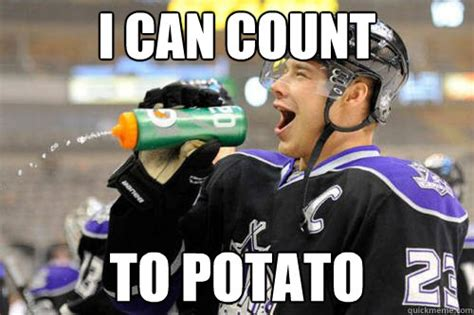 Funny Potato Memes - i can count to potato dustin brown as the ringer quickmeme