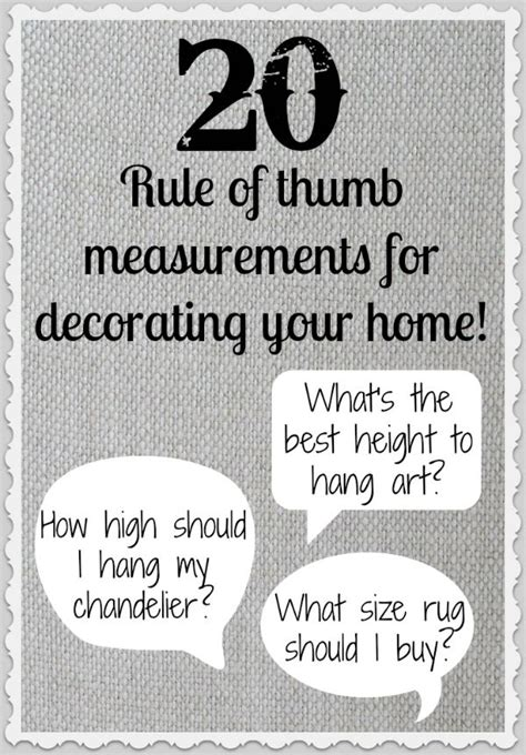 home decorating rules 20 rule of thumb measurements for decorating your home