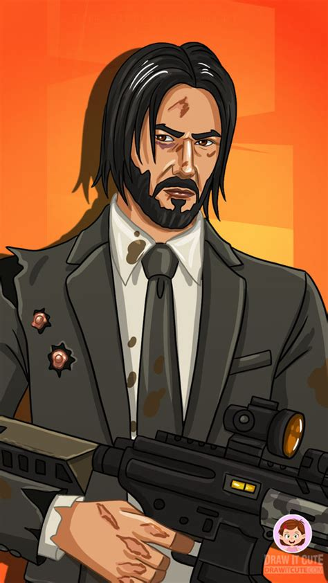 draw john wick  gun fortnite season  skin
