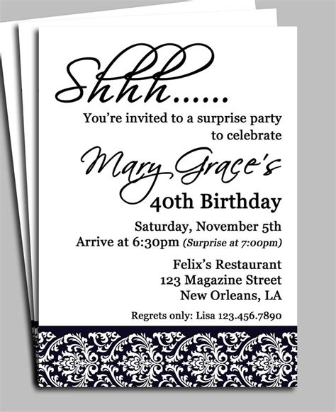Formal Birthday Quotes 25 Best Ideas About Surprise Birthday Invitations On
