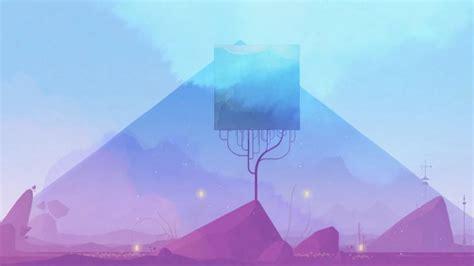 wallpaper gris mountain landscape platform games