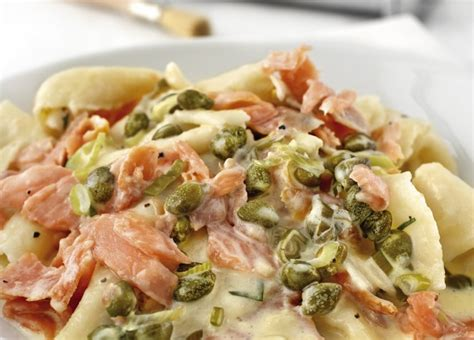 Lemon rag pasta with smoked salmon and capers   KitchenAid