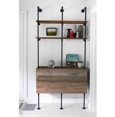 pipe shelving unit items similar to reclaimed wood pipe shelving unit mid