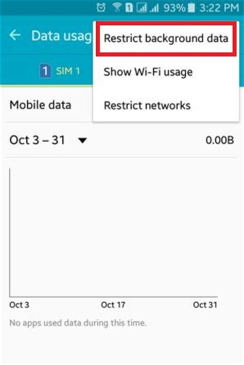 restrict background data  android lollipop