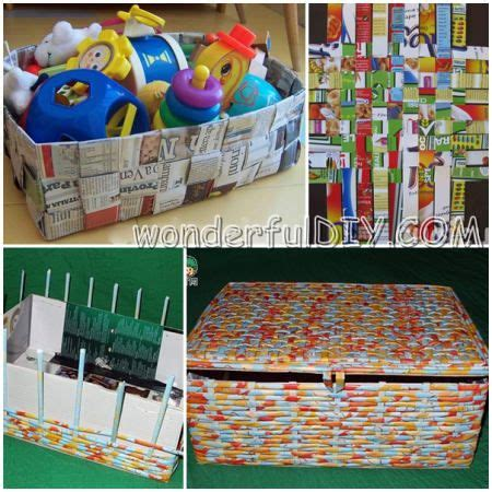 Wonderfull Recycled Ls Ideas Wonderful Diy Basket From Recycled Paper In 2 Ways Diy Ideas Straw Weaving And Craft