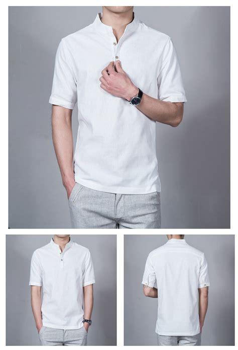 Linen China Koran korea korean fashion wind linen mens shirt white lazada co th