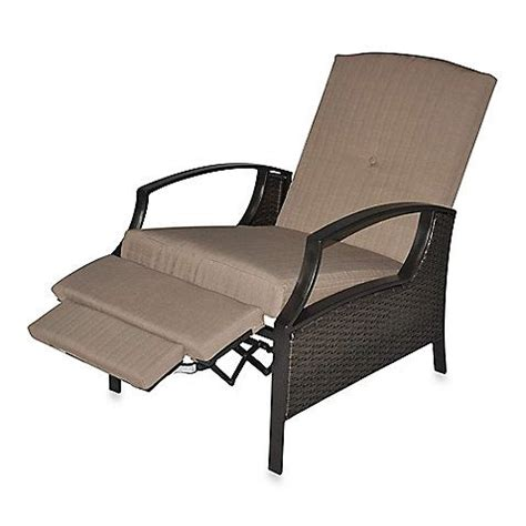 mix match stratford wicker recliner cushion bed bath all weather wicker deep seating cushion outdoor recliner