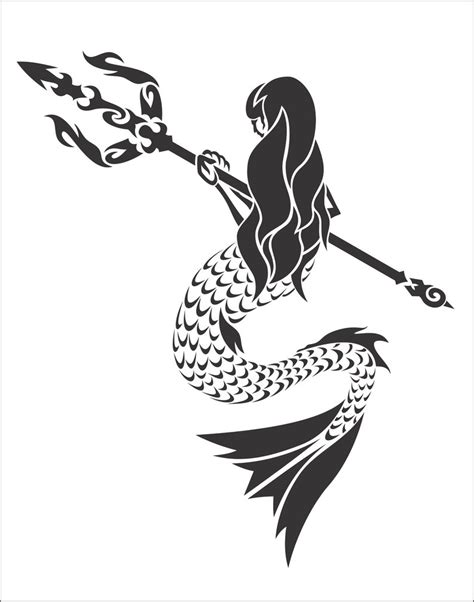 mermaid tribal tattoo tribal mermaid by flamerxmagofire on deviantart