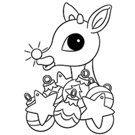 free printable baby reindeer christmas coloring page for kids rudolph the red nosed reindeer coloring pages murderthestout