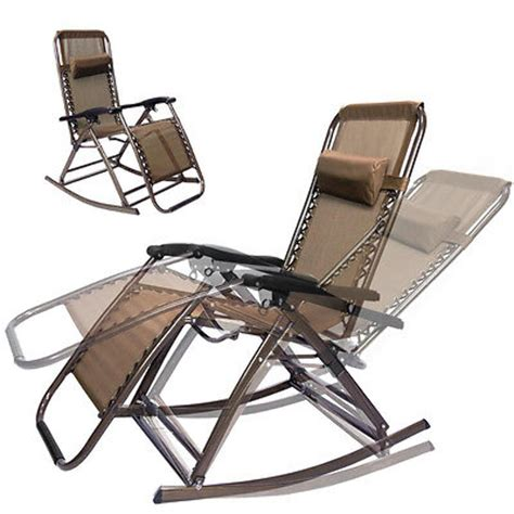 foldable recliner infinity zero gravity folding reclining chair brown