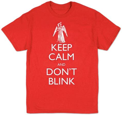 Tshirt Doctor Aulia Mest Product doctor who keep calm don t blink bluser p 229 allposters dk