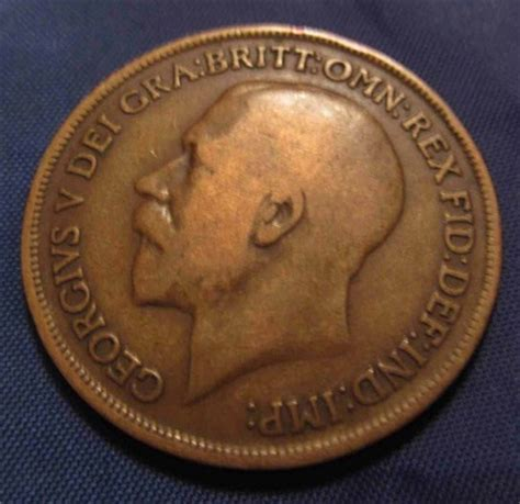 values of british one penny copper coins with queen 100 years old 1913 penny english british bronze coin ad