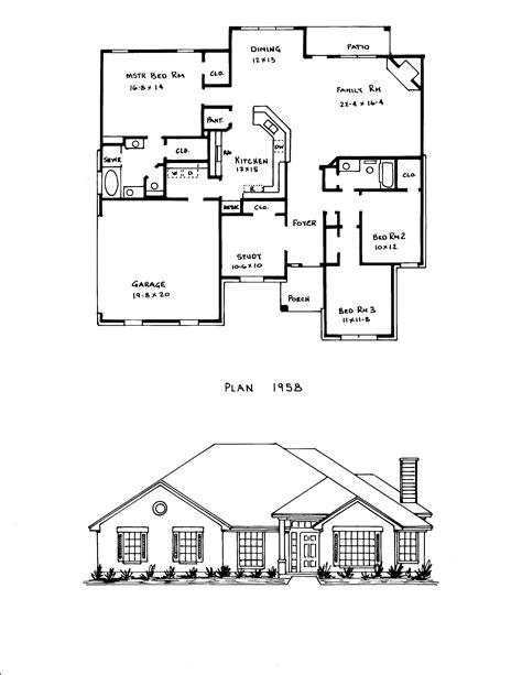 Bedroom Open Floor Plan Concept House Plans Four Lrg