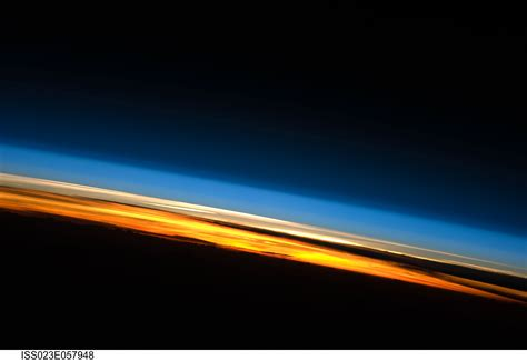 Light Up The Sky Band by Apod 2010 June 23 Sunset From The International Space