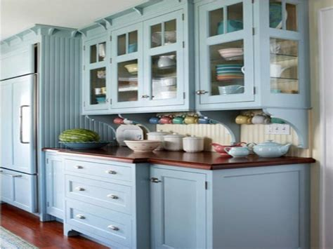 Painted Blue Kitchen Cabinets | kitchen paint ideas stroovi