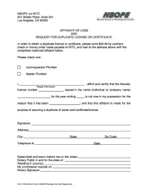 Affidavit Of Loss Forms And Templates Fillable Forms Sles For Pdf Word Lost Check Affidavit Template