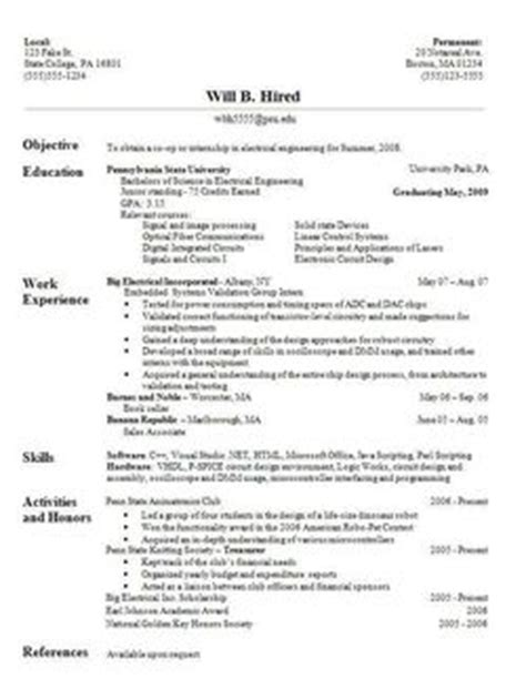 Cv Sles For Fresh Graduates Of Computer Science How To Write A Better Fresh Graduate Resume Without Work Experience Free Sles After