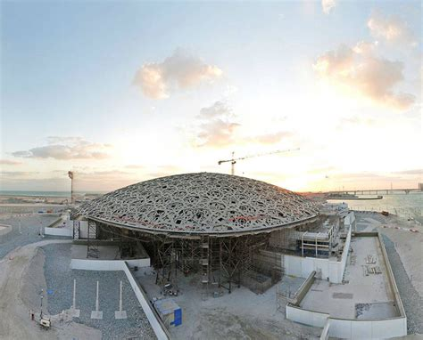 construction of jean nouvel's louvre abu dhabi well underway