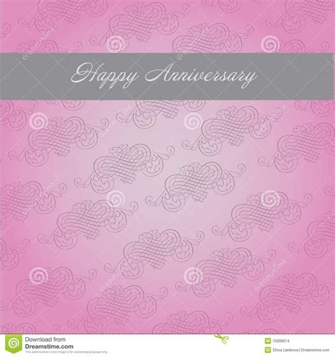 template for anniversary card anniversary template stock vector illustration of