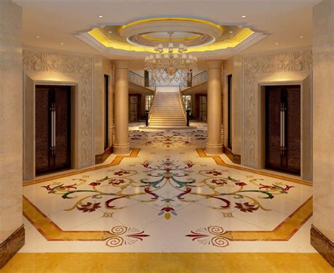 ** Marble Floor / Fabulous Design   No Footprints Please