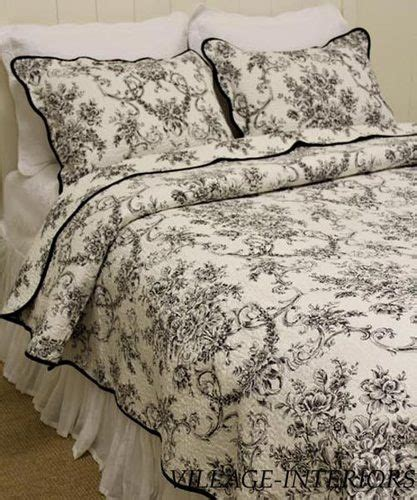 black and white toile bedding floral toile de jouy black white french country king