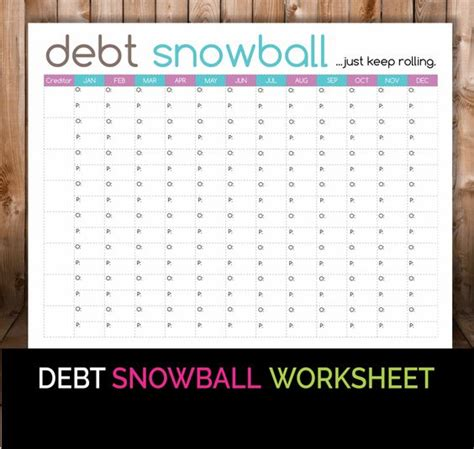 Snowball Debt Plan Worksheet by Debt Snowball Snowball And Worksheets On