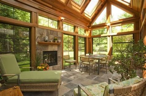 Sunroom Add On Stunning Wood Sunroom Porches Rooms Add Ons