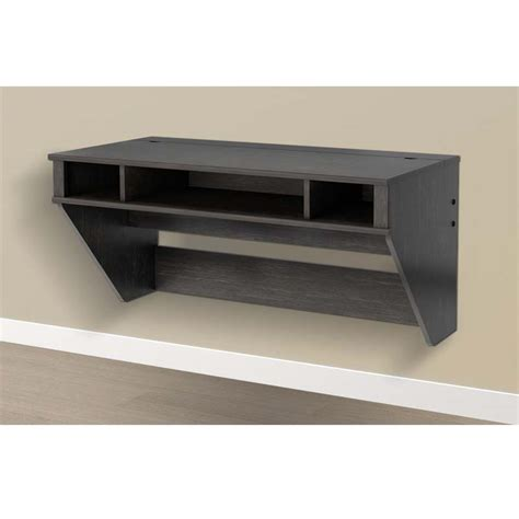 wall mounted floating desk prepac designer wall mounted floating desk hehw 0500 1