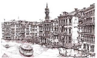 venice in pen and ink drawing by adendorff design