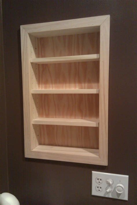 convert medicine cabinet to shelving this client removed their old medicine cabinet and asked