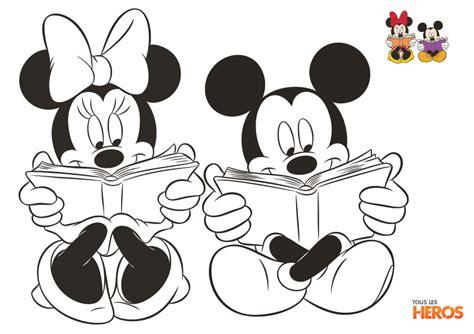 Coloriages Mickey Et Minnie Gratuits Sur Le Blog De Tous