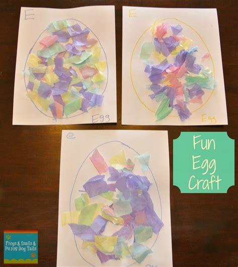 Tissue Paper Easter Crafts - easter egg craft torn tissue paper