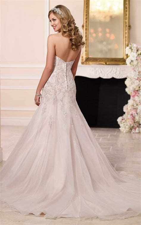 Silver Wedding Dresses by Strapless Silver Lace Wedding Dresses Stella York