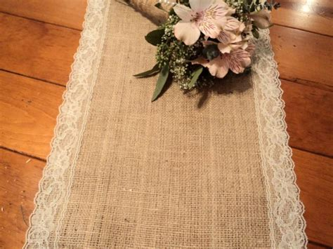 burlap wedding decor ideas burlap inspired country weddin burlap and lace table runner shower decorations vintage