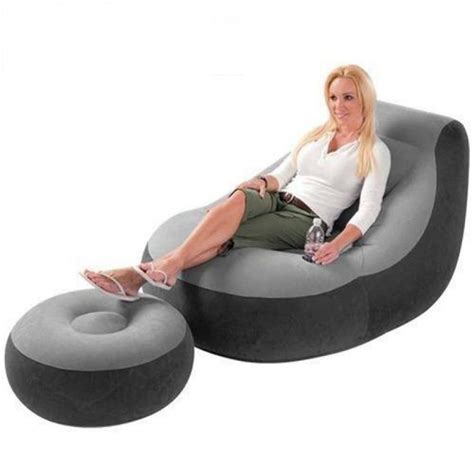 intex air sofa inflatable sofa with footrest set intex 68564inflatable