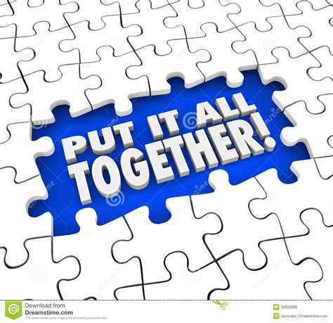 Put Together by Put It All Together Puzzle Pieces Solve Mystery Problem